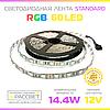 Светодиодная лента RGB MTK-300 Standard 12В 60LED/m SMD5050 14,4W/m IP20  без силикона