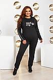 Спортивний костюм двійка батник і штани розмір батал: 52-54, 56-58, 60-62, фото 5