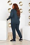 Спортивний костюм двійка батник і штани розмір батал: 52-54, 56-58, 60-62, фото 8