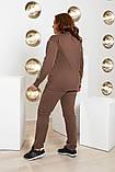 Спортивний костюм двійка батник і штани розмір батал: 52-54, 56-58, 60-62, фото 4