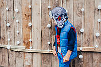 Детская шапка зимняя для мальчиков СВИФТ (джинсовый) оптом размер 50-52-54, фото 1