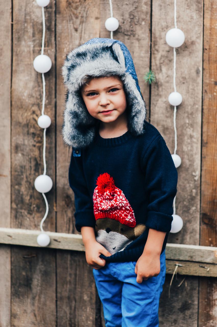Детская шапка зимняя для мальчиков СВИФТ оптом размер 50-52-54