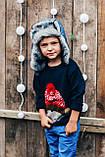 Детская шапка зимняя для мальчиков СВИФТ (джинсовый) оптом размер 50-52-54, фото 2