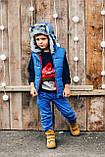 Детская шапка зимняя для мальчиков СВИФТ (джинсовый) оптом размер 50-52-54, фото 3