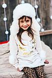 Детская шапка зимняя для девочек ФРЭНСИС (голубой) оптом размер 50-52-54, фото 2