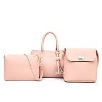 Комплект сумка 3 в 1 №2237 / розовый, фото 1