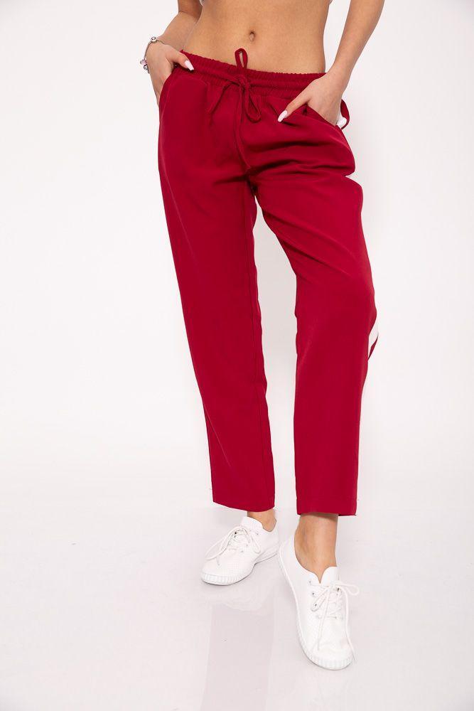 Брюки женские 115R223D цвет Бордовый