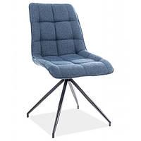Кухонный стул синего цвета Signal Chic II с тканевой обивкой в скандинавском стиле Польша