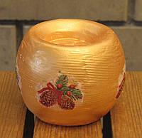 Подсвечник шар декорированный