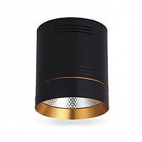 Накладной светодиодный светильник Feron AL542 COB 18W (черный+золото), фото 1