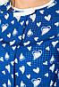 Блузка женская 115R170 цвет Сине-белый-сердце, фото 4