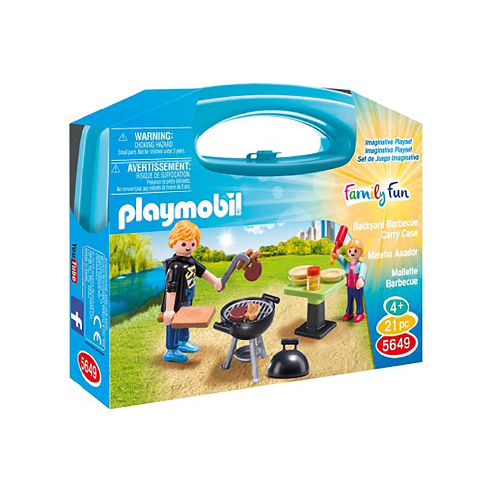"""Ігровий набір в кейсі """"Барбекю"""" Playmobil (4008789056498)"""