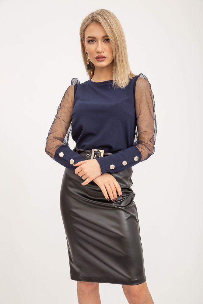 Блуза женская 119R0421 цвет Темно-синий