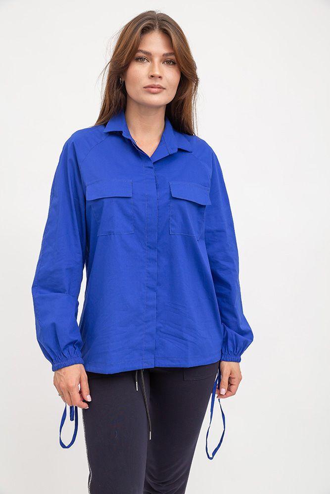 Рубашка женская 119R0406 цвет Синий