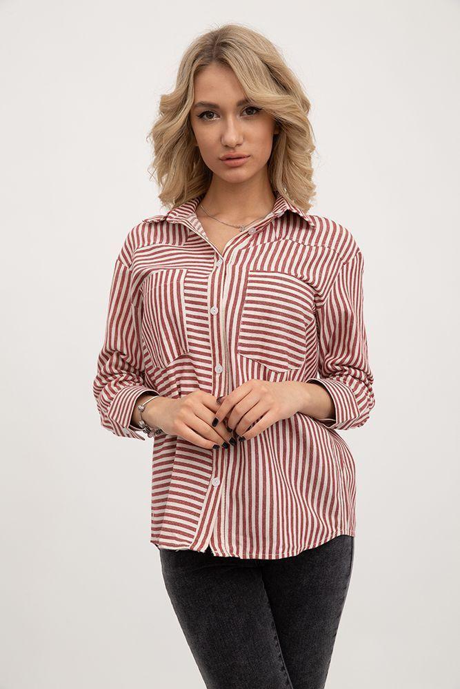 Блуза 115R365 цвет Красно-серый