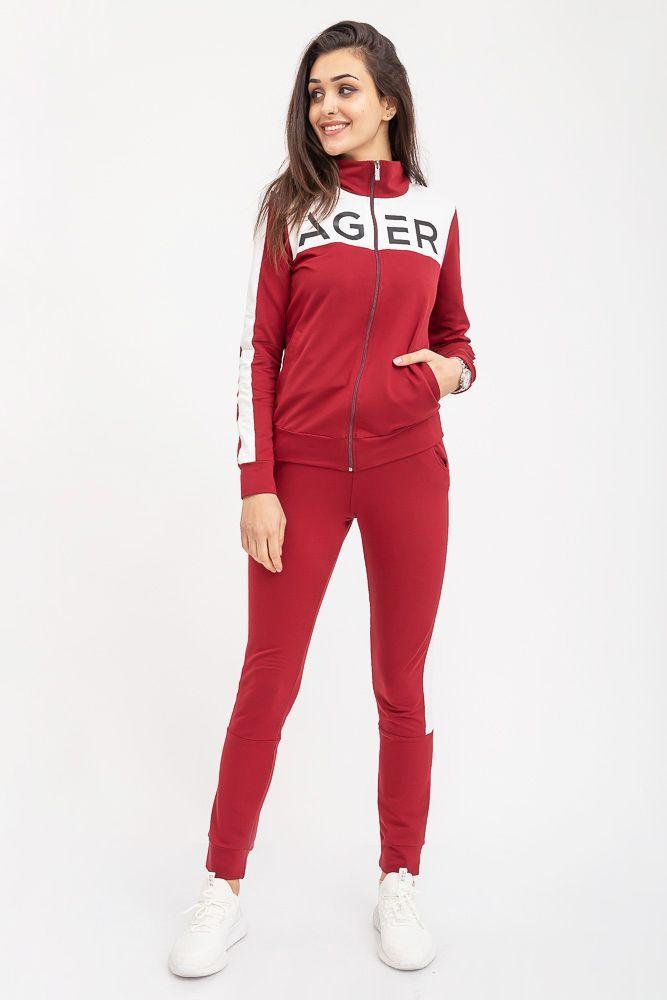 Спорт костюм женский 102R031 цвет Бордовый