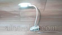 Настольная светодиодная лампа на прищепке Luxel TL-09W, 6W, сетевая