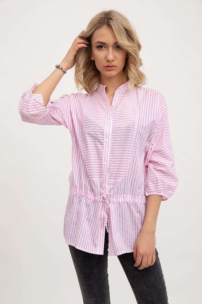 Блуза 115R335F цвет Розово-белый