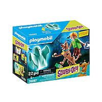 """Игровой набор """"Скуби и Шегги с призраком"""" Playmobil Scooby-Doo (4008789702876)"""