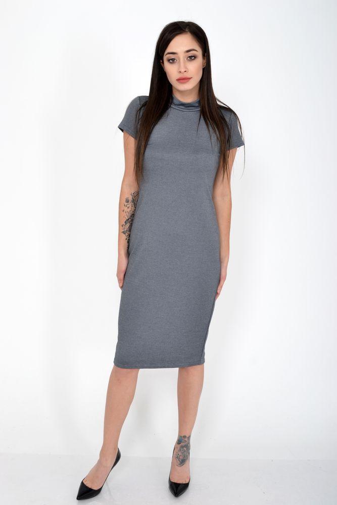 Платье женское 120R403 цвет Серый