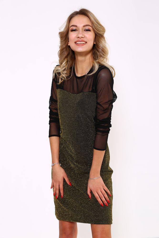 Платье женское 115R312 цвет Золотистый