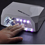 Гибридная лампа для гель лака LED + CCFL 36W Lamp Diamond Brilliant White, фото 4