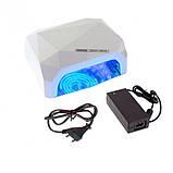 Гибридная лампа для гель лака LED + CCFL 36W Lamp Diamond Brilliant White, фото 5