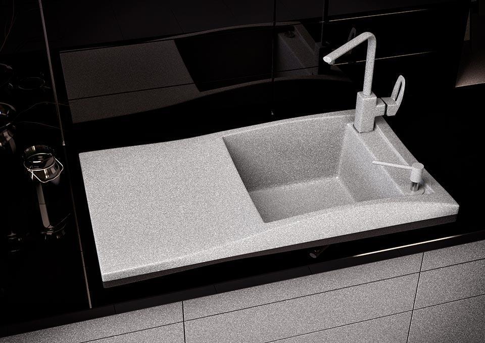 Кухонна мийка VALENTINA Gr Sirena 80 сірий