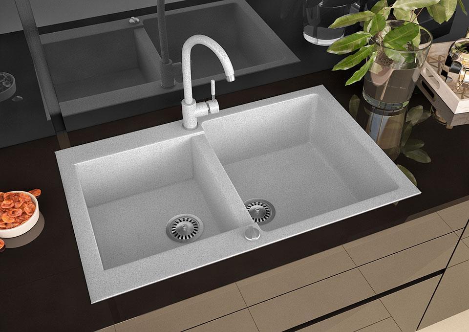 Кухонна мийка VALENTINA Gr Florina сірий