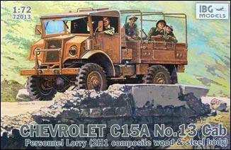 """Сборная модель  """"Chevrolet C15A No.13 Cab Personnel Lorry """""""