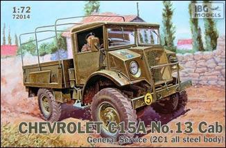 """Сборная модель  """"Военный грузовик Chevrolet C15A No.13 с кабиной общего обслуживания """""""
