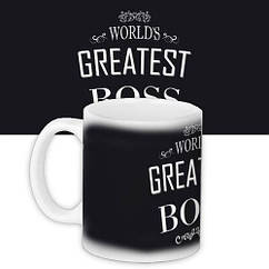 Чашка Кружка с принтом City-A 330 мл. World`s greatest boss
