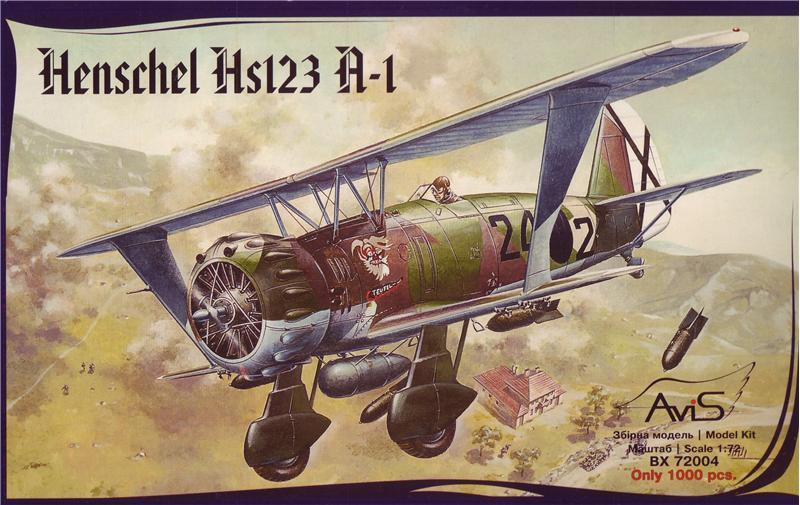 """Сборная модель """"Пластиковая модель самолета Hs123 A-1"""""""