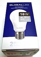 Светодиодная лампа 10 W  220V  Е27 GLOBAL LED яркий свет