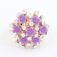Кільце фіолетові квіти