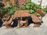 Мебель из массива берёзы 1100х800 с живым краем от производителя для дачи, кафе, комплект Furniture set - 32 Кропивницкий