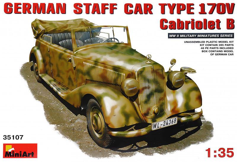 """Сборная модель """"Немецкий штабной автомобиль Тип 170V Кабриолет Б"""""""