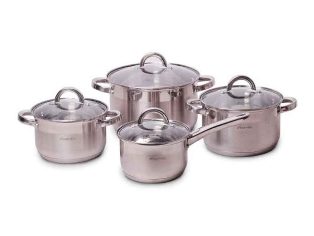 Набор посуды из нержавеющей стали Kamille 4 шт 2,9л/3,9л/6,5л/2,1л (5632S)