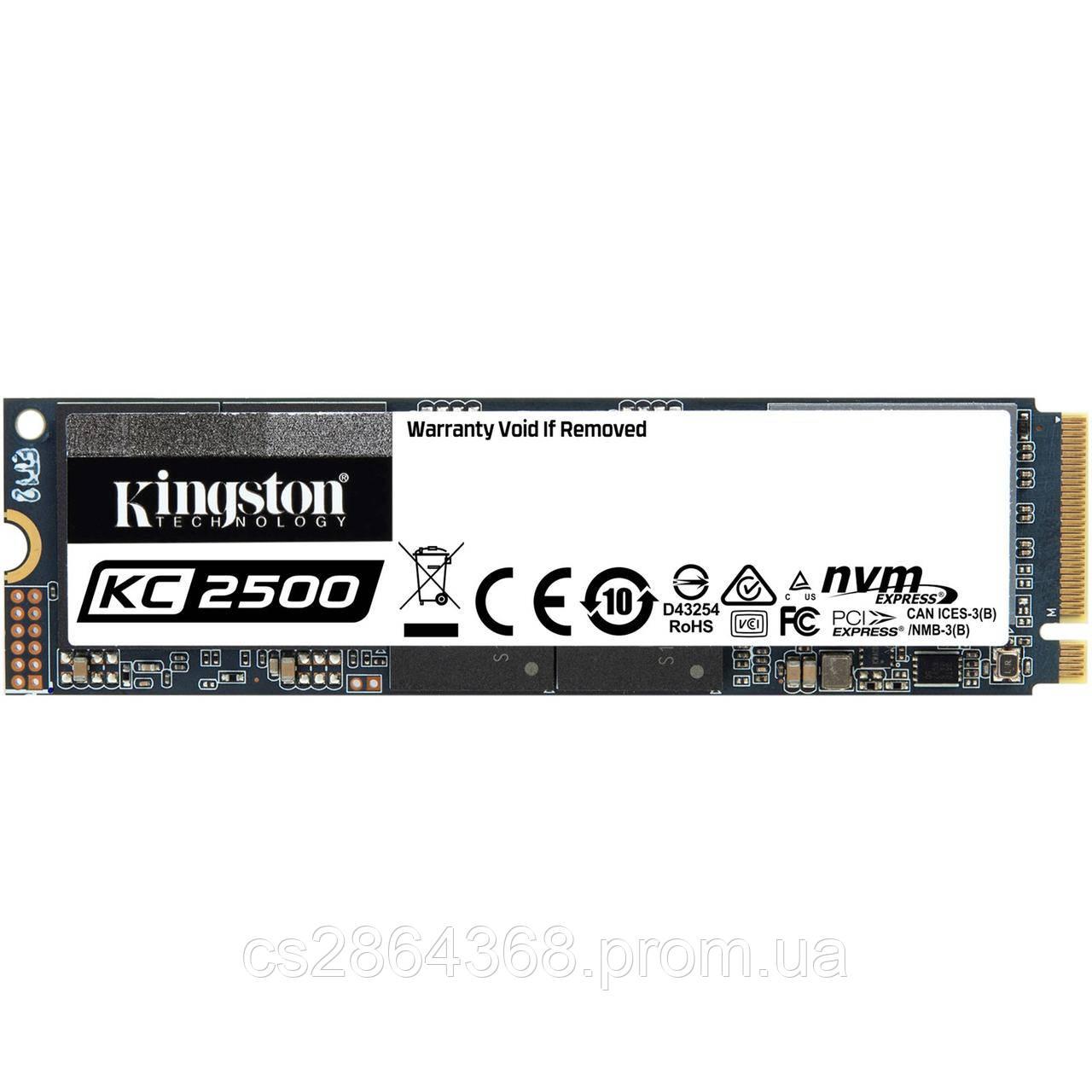 Накопичувач SSD Kingston KC2500 1TB M.2 2280 PCI Express 3.0x4 3D NAND TLC (SKC2500M8/1000G)