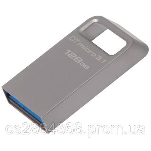 Флеш-накопичувач Kingston USB3.1 Gen.1 DataTraveler Micro 128GB Silver (DTMC3/128GB)