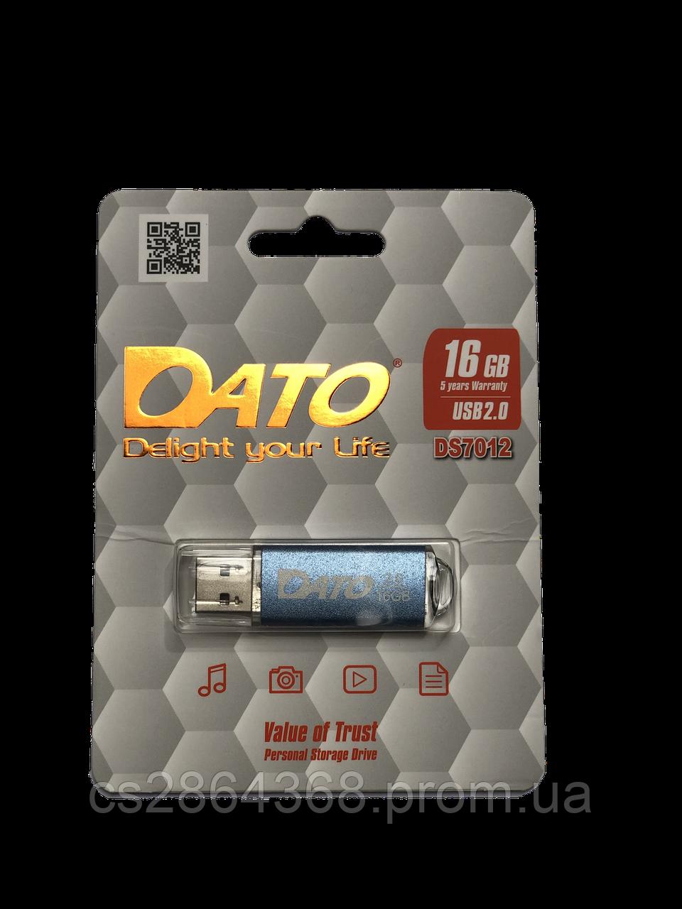 Флеш-накопичувач DATO USB2.0 DS7012 16GB Blue (DS7012BL-16G)
