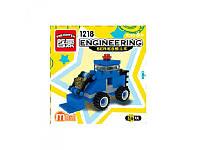 Конструктор Стройтехника-бульдозер Brick 1218, 30 деталей