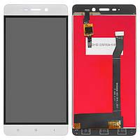 Дисплей (LCD) Xiaomi Redmi 4 с тачскрином, белый, оригинал (PRC)