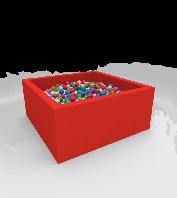 М'який розвиваючий модульний сухий басейн з поролону з кульками з м'яким дном червоний Lucky Квадратний