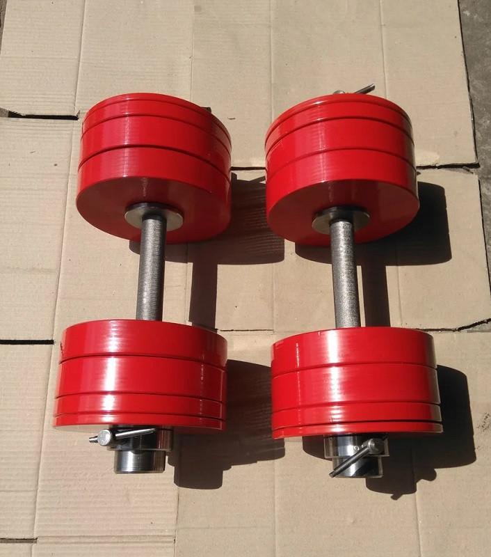Гантели 2 по 32.5 кг разборные металл олимпийские (металеві гантелі розбірні наборні олімпійські наборные)