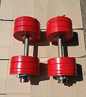 Гантели 2 по 32.5 кг разборные металл олимпийские (металеві гантелі розбірні наборні олімпійські наборные), фото 1