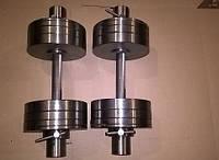 Гантели 2 по 33 кг разборные металл олимпийские (металеві гантелі розбірні наборні олімпійські наборные)