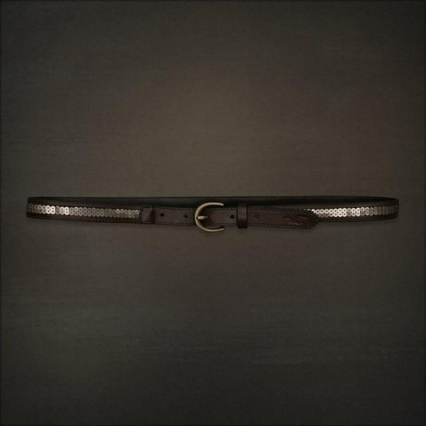 Кожаный ремень Hollister  с пайетками