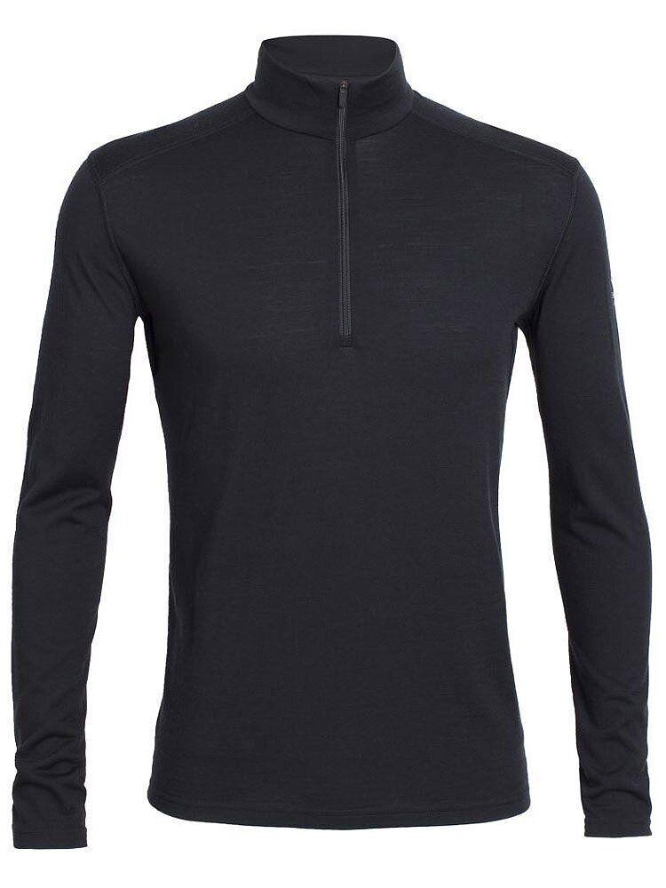 Термофутболка мужская Icebreaker 200 Oasis Long Sleeve Half Zip Black M (100 477 001 M)