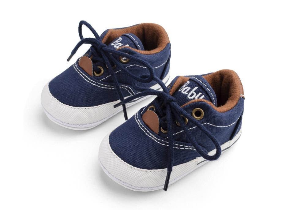 Пінетки-кеди хлопчачі Доні на шнурівці сині 13